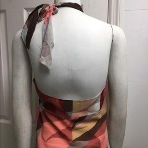 BCBGMaxAzria Tops - BCBG MAXAZRIA silk halter neck top size M